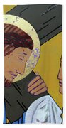 Jesus And Veronica Beach Towel