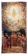 Jesus Ascending Into Heaven Beach Sheet