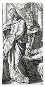 Jesus Changes Water Into Wine, Gospel Of John Beach Towel