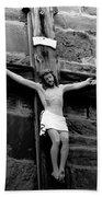 Jesus Christ Beach Towel