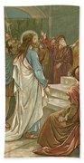 Jesus In Front Of Pilate Beach Towel