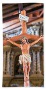Jesus On The Cross In San Ramon, Bolivia Beach Towel