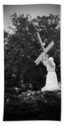 Jesus With Cross Beach Towel