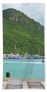 Jet Ski On The Lagoon Caribbean St Martin Beach Towel