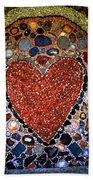 Jewel Heart Beach Towel