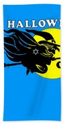 Jewish Halloween Witch Beach Towel
