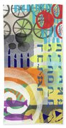 Jewish Life 1- Art By Linda Woods Beach Towel