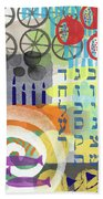 Jewish Life 1- Art By Linda Woods Beach Sheet