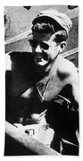 Jfk On Pt 109 Beach Towel by War Is Hell Store