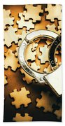 Jigsaw Of Misconduct Bribery And Entanglement Beach Towel