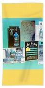 Jim Beam Signs On Display - Color Invert Beach Towel
