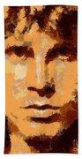 Jim Morrison - Digital Art Beach Towel