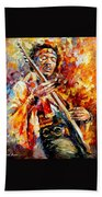 Jimi Hendrix  Beach Towel