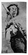 Jimi Hendrix Pop Star  Beach Towel