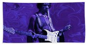 Jimi Hendrix Purple Haze Beach Sheet