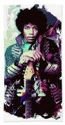 Jimi Hendrix, The Legend Beach Towel
