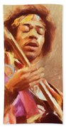 Jimi Jamming Beach Towel
