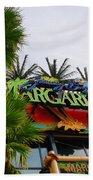 Jimmy Buffets Margaritaville In Las Vegas Beach Towel by Susanne Van Hulst