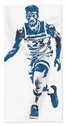 Jimmy Butler Minnesota Timberwolves Pixel Art 5 Beach Towel
