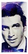 Jimmy Stewart, Vintage Actor Beach Towel