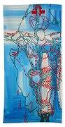 Jishu Christo - Jesus Christ Beach Towel