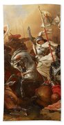 Joan Of Arc In The Battle Beach Towel