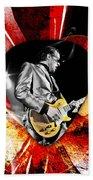 Joe Bonamassa Blue Guitar Art Beach Sheet