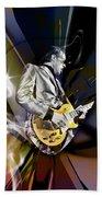 Joe Bonamassa Blue Guitarist Art Beach Towel