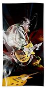 Joe Bonamassa Blue Guitarist Beach Towel