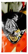Joe Bonamassa Blues Guitar Art Beach Towel