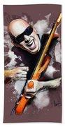 Joe Satriani Beach Towel