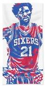 Joel Embiid Philadelphia Sixers Pixel Art 10 Beach Towel