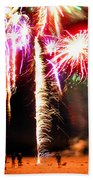 Joe's Fireworks Party 1 Beach Towel