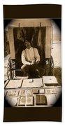 John A. Coffer  Traveling Tintype Photographer  Tombstone Arizona 1980-2009 Beach Towel