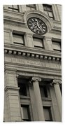 John Adams Courthouse Boston Ma Black And White Beach Towel