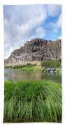 John Day River Landscape In Summer Portrait Beach Sheet