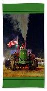 John Deere Tractor Pull Poster Beach Sheet