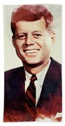 John F. Kennedy Beach Towel