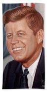 John F. Kennedy Beach Towel