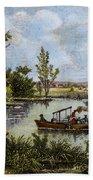 John Fitch Steamboat, 1796 Beach Towel