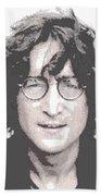 John Lennon - Parallel Hatching Beach Towel