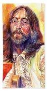 John Lennon Watercolor Beach Towel