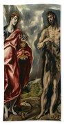 John The Baptist And Saint John The Evangelist Beach Towel