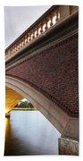 John Weeks Bridge Charles River Harvard Square Cambridge Ma Beach Towel
