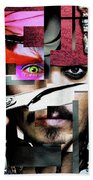 Johnny Depp - Collage  Beach Towel