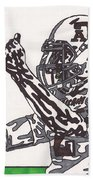 Johnny Manziel 10 Change The Play Beach Towel by Jeremiah Colley