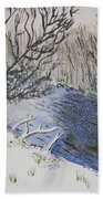 Johnson Vermont In Spring Snow Storm Beach Towel