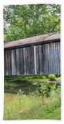 Johnson's Mill/salt Creek Covered Bridge  Beach Towel