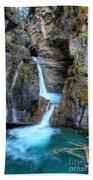 Johnston Canyon Falls Hike Upper Falls II Beach Towel