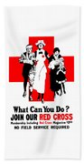 Join Our Red Cross Beach Towel